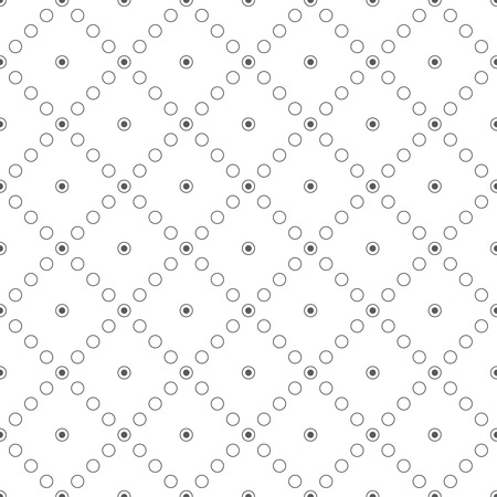 Seamless pattern. Abstract textured background. Simple texture with regularly repeating geometrical, shapes, small dots, circles, rhombuses. Vector element of graphic design