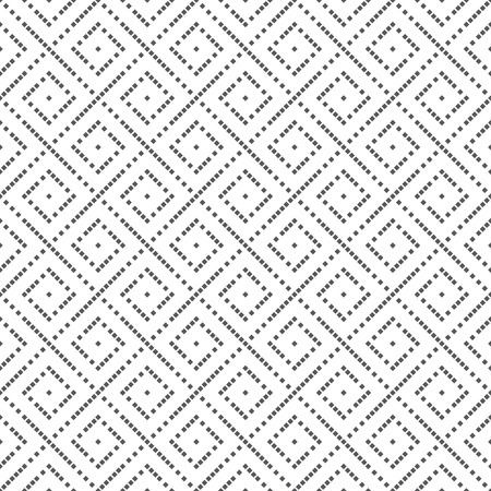 scatter: Seamless pattern. Abstract modern small textured background. Original tileable texture with repeating geometrical shapes, small squares, scatter lines, rhombuses. Vector element of graphic design Illustration