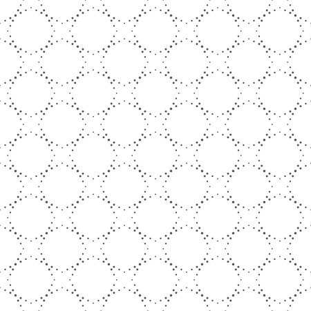 regularly: Seamless pattern. Abstract small dotted background. Modern original texture with regularly repeating geometrical elements, shapes, small dots, stars, hexagons. Vector element of graphic design