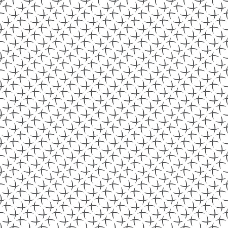 regularly: Seamless pattern. Stylish abstract textured background. Original diagonal texture with regularly repeating geometrical shapes, arcs, ovals, crosses, crossed circles. Vector element of graphical design Illustration