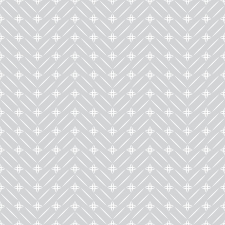 regularly: Seamless pattern. Light textured background. Original simple texture with regularly repeating geometrical, shapes, thin lines, stars, zigzags. Vector element of graphic design Illustration