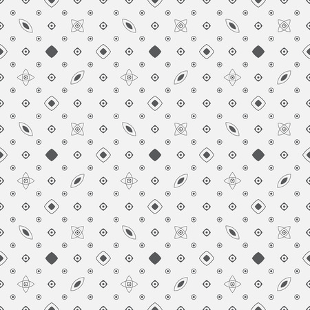 regularly: Seamless pattern. Classical abstract background. Simple texture with regularly repeating geometrical elements, shapes, dots, rhombuses, circles, stars, oval. Vector element of graphic design