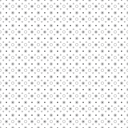 regularly: Seamless pattern. Classical abstract small textured background. Simple texture with regularly repeating geometrical elements, shapes, dots, circles. Vector element of graphical design Illustration