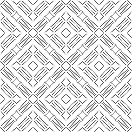 regularly: Seamless pattern. Abstract dotted textured background. Simple elegant texture with regularly repeating geometrical shapes, dots, dotted lines, rhombuses. Vector element of graphical design