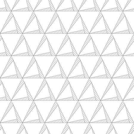 regularly: Seamless pattern. Abstract textured background. Original stylish texture with regularly repeating geometrical shapes, linear triangles, rhombuses. Vector element of graphical design