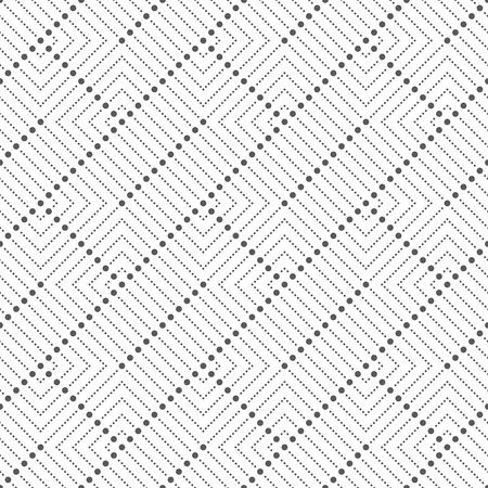 シームレス パターン。小さなドットと抽象的な幾何学的な背景。 定期的に点線の四角形を繰り返しでモダンなドット生地。グラフィック デザイン