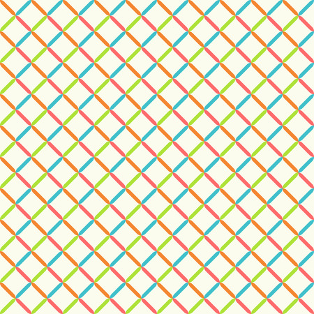 regularly: Seamless pattern. Abstract color background. Bright colourful texture with regularly repeating geometrical elements, shapes, rhombuses. Vector element of graphic design