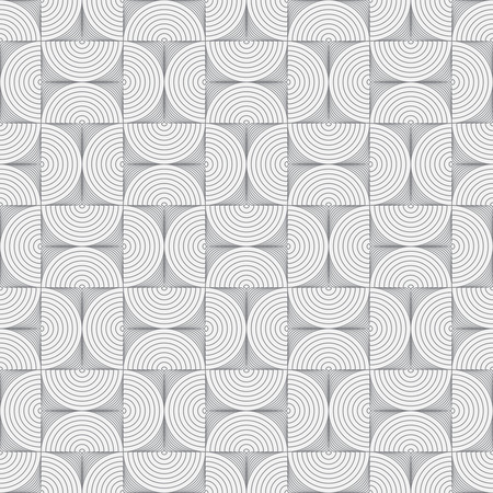 arcs: Seamless pattern. Abstract ornamental textured background. Original stylish texture with repeating geometrical shapes, semicircles, arcs, circular elements. Vector element of graphic design