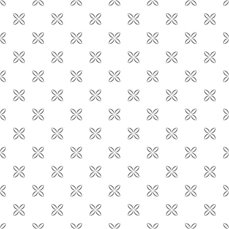 single flowers: Seamless pattern. Classical abstract wrapping background. Minimalistic simple texture with regularly repeating geometrical shapes, single flowers. Vector element of graphical design