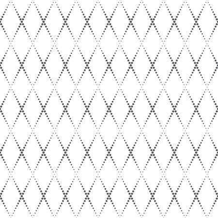 Seamless pattern. Abstract dotted textured background. Simple elegant texture with regularly repeating geometrical shapes, dots, dotted lines, rhombuses. Vector element of graphical design