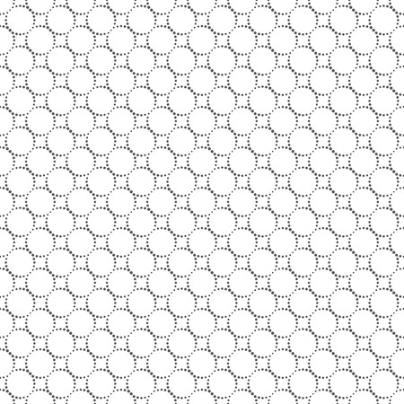 Seamless pattern. Abstract small dotted background. Simple stylish texture with regularly repeating geometrical shapes, dotted circles, rhombuses. Vector element of graphical design