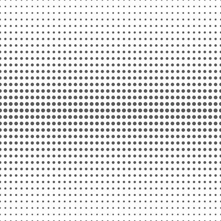 Nahtloses Muster Abstrakter Halbtonhintergrund. Moderne stilvolle Textur. Wiederholungsraster mit Punkten unterschiedlicher Größe. Abstufung von größer zu kleiner. Vektorelement-Grafikdesign Standard-Bild - 44084343