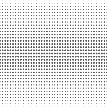 halftone: Seamless pattern. Abstract halftone background. Modern stylish texture. Repeating grid with dots of the different size. Gradation from bigger to the smaller. Vector element graphic design