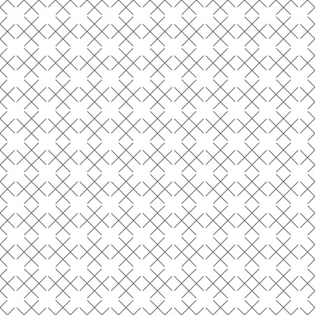Seamless pattern. Abstract geometrical background. Simple linear texture with regularly repeating geometrical shapes, lattice, crossed lines, rhombuses. Vector element of graphical design
