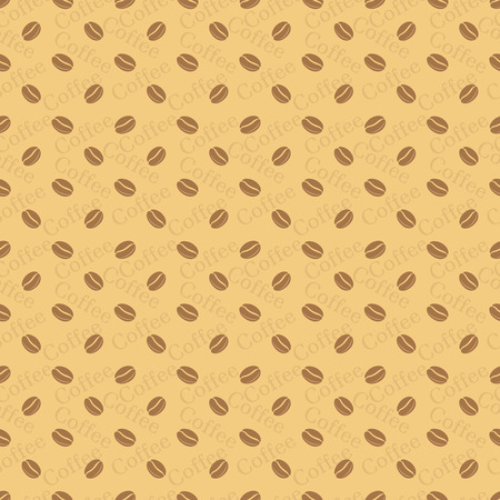 wrapper: Seamless pattern. Stylish coffee texture with the repeating coffee grains and the text. It can be used as a wrapper for packing.