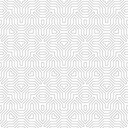 regularly: Seamless pattern. Abstract linear background. Original stylish texture with regularly repeating geometrical shapes, polygons, difficult polygonal forms.
