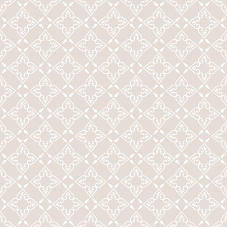 regularly: Seamless pattern. Abstract ornamental background. Gentle pastel texture with regularly repeating geometrical, shapes, hearts, rhombuses. Illustration