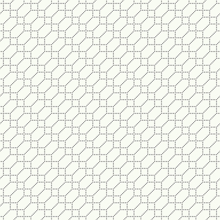 Seamless pattern. Abstract geometrical modern background. Simple diagonal texture with regularly repeating crossed dotted hexagons and rhombuses. Vector element of graphical design