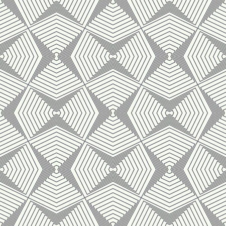 Seamless pattern. Abstract textured background. Stylish modern geometric texture. Repeating polygonal shapes, lines, rhombuses. Vector element of graphical design Illustration
