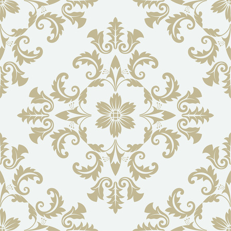 Vector seamless pattern. Luxury floral stylish texture of damask or baroque style. Pattern can be used as a background, wallpaper, page fill,  an element of decoration, ornate style  イラスト・ベクター素材