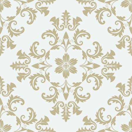 barroco: Modelo inconsútil del vector. Lujo textura elegante floral del damasco o el estilo barroco. Patrón puede ser utilizado como un fondo, papel pintado, página relleno, un elemento de decoración, estilo ornamentado
