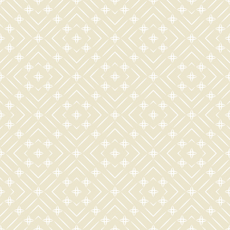 regularly: Seamless pattern. Abstract textured background. Original simple texture with regularly repeating geometrical, shapes, thin lines, stars, rhombus. Vector element of graphic design