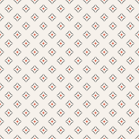 Seamless pattern. Abstract geometrical textured background. Modern stylish texture with repeating small rhombuses, and arcs. Vector element of graphical design