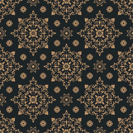 victorian wallpaper: Vector seamless pattern. Luxury floral stylish texture of damask style. Pattern can be used as a background, wallpaper, wrapper, page fill,  an element of decoration, ornate style