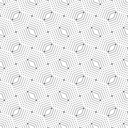 Seamless pattern. Abstract geometrical background. Modern stylish texture with small dots. Repeating ornament with a grid of dots and rhombuses. Vector element of graphical design