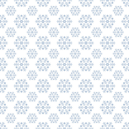 christmas wallpaper: Vector seamless pattern. Christmas background. New Years texture with snowflakes. Pattern can be used as a background, wallpaper, page fill, wrapper, textured surface Illustration