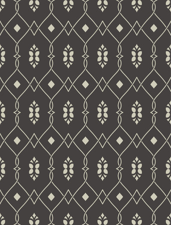 curving lines: Seamless pattern in arabic style. Abstract islamic background. Traditional eastern texture with intersecting curving lines. Vector element of graphic design