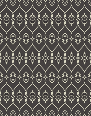 Seamless pattern in arabic style. Abstract islamic background. Traditional eastern texture with intersecting curving lines. Vector element of graphic design