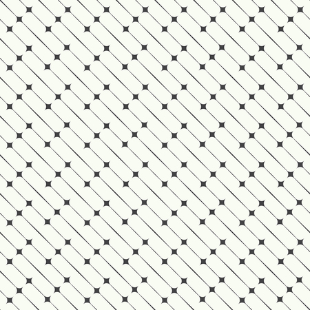 geometrical pattern: Seamless pattern. Abstract geometrical background. Modern stylish texture.  Regularly repeating diagonal thin lines and rhombuses. Vector element of graphical design Illustration
