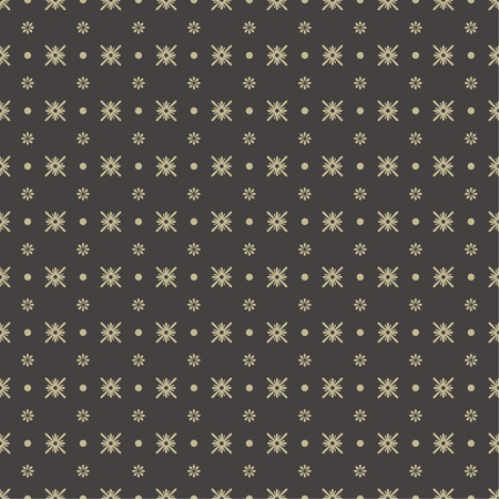 endlessly: Seamless pattern. Abstract textured background. Modern stylish texture. Endlessly repeating elegant ornament with stars, dots and flowers. Vector element of graphic design Illustration