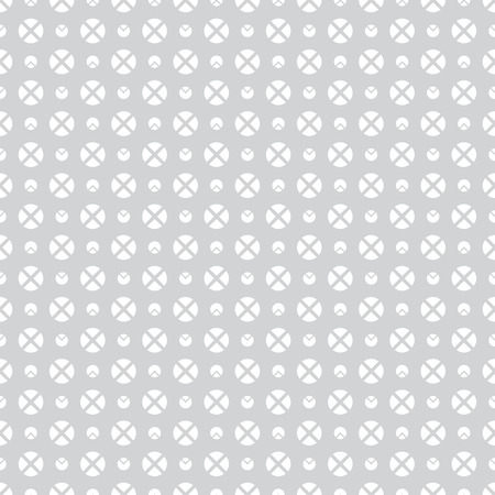 regularly: Seamless pattern. Abstract geometrical wrapper background. Regularly repeating classical simple texture with circles and crosses. Vector element of graphical design