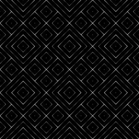 fragmentary: Seamless pattern. Vector abstract geometrical background. Modern stylish texture with fragmentary lines. Regularly repeating tiles with linear diamonds and rhombuses.