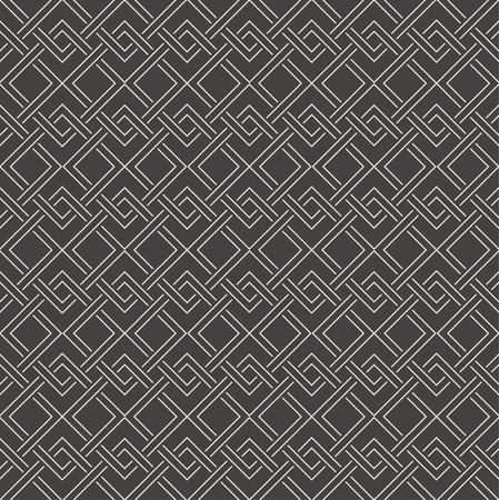 nodes: Seamless pattern. Abstract geometrical background. Modern stylish outline texture.  Regularly repeating elegant ornament with intersecting corner lines in nodes. Vector element of graphical design