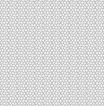 Seamless pattern. Abstract geometrical background. Modern stylish texture. Regularly repeating simple elegant ornament with intersecting hexagons. Vector element of graphical design
