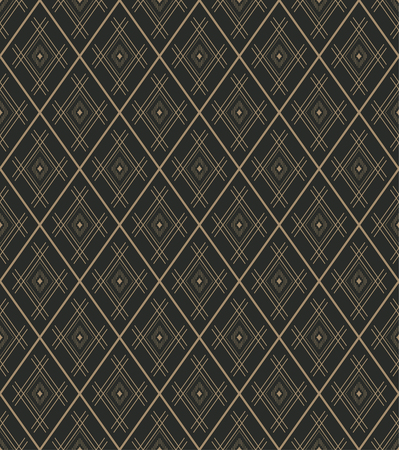 regularly: Seamless pattern. Vector abstract geometrical background. Modern stylish texture with thin lines. Regularly repeating elegant tiles with linear diamonds and rhombuses.