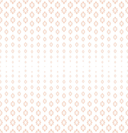 bigger: Seamless pattern. Abstract halftone background. Modern stylish texture. Repeating grid with ornamental shapes of different size. Gradation from bigger to smaller. Vector element graphic design