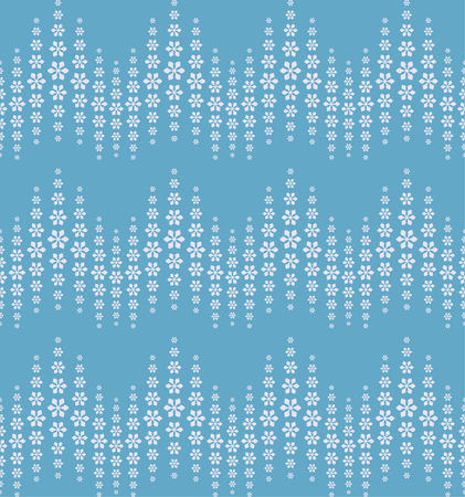 bigger: Seamless pattern. Abstract halftone background. Modern stylish texture. Repeating waves with flowers of the different size. Gradation from bigger to the smaller. Vector element graphic design