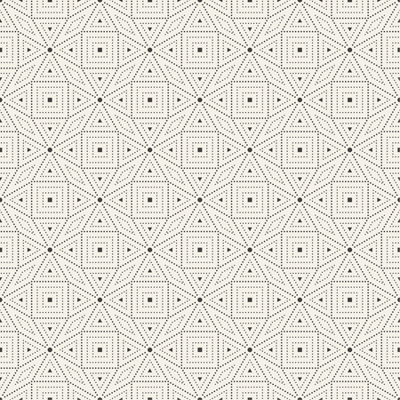 textile texture: Seamless pattern. Abstract small textured background. Modern stylish texture consisting of small dots. Repeating elegant geometrical tiles with dotted rhombuses and triangles. Vector element of graphical design