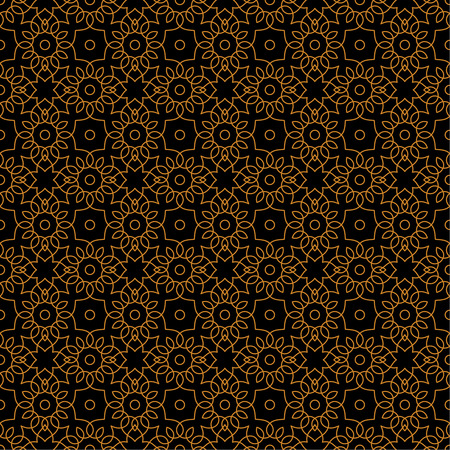 curving lines: Seamless pattern. Abstract textured background. Modern stylish texture with spiral elements. Repeating elegant gold ornament with intersecting curving lines. Vector element of graphic design