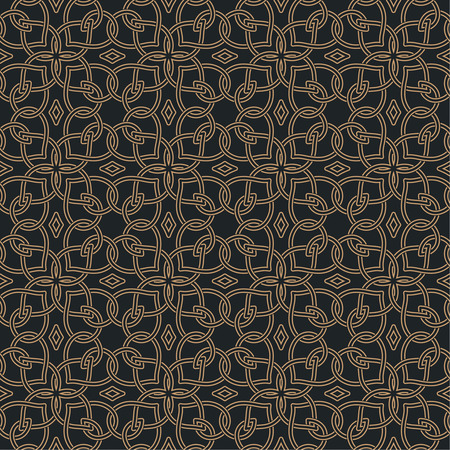 curving lines: Seamless pattern in arabic style. Abstract background. Islamic texture. Repeating tiles with intersecting curving lines. Vector element of graphic design Illustration