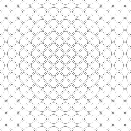 Seamless pattern. Abstract geometrical background. Modern stylish texture with small dots. Regularly repeating intersecting dotted rhombuses and crosses. Vector element of graphical design
