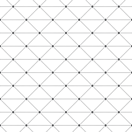 textile texture: Seamless pattern. Abstract geometric background. Simple stylish texture with small dots. Regularly repeating dotted ornament with rhombuses and triangles. Vector element of graphic design