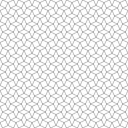 repeating background: Seamless pattern. Vector abstract geometrical background. Modern stylish texture. Regularly repeating elegant ornament with outline rhombuses and squares.