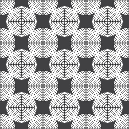 regularly: Seamless pattern. Modern stylish texture. Regularly repeating elegant geometric ornament with rhombuses and circles. element of graphic design