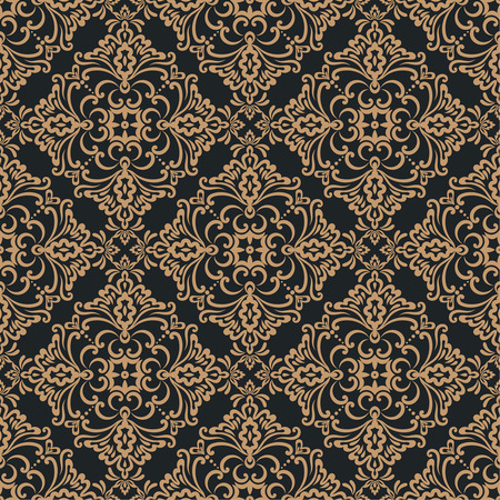 seamless pattern. Luxury elegant texture of baroque style. Pattern can be used as a background, wallpaper, wrapper, page fill, element of ornate decoration