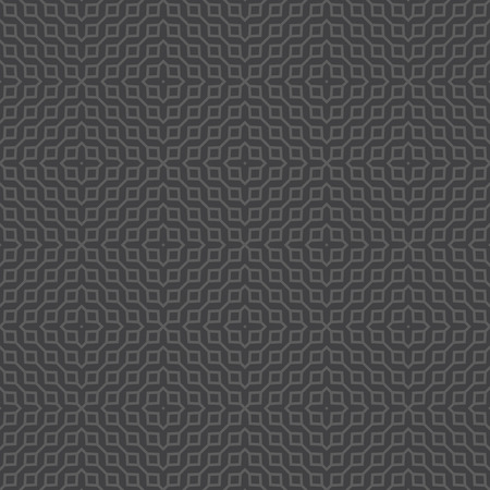 rhombic: Seamless pattern. Classical stylish rhombic texture. Regularly repeating monochrome geometric tiles with rhombuses and crosses. element of graphical design Illustration